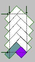 Quiltville's Quips & Snips!!: Pioneer Braid Borders! 2.5 x 6 inch strips. Start with 2.5 x 2.5 square.