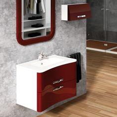 La forma ergonómica del mueble de baño Neón se adapta al cuerpo humano y hace que quede más cercano el grifo. Siempre pensando en la comodidad del cliente.