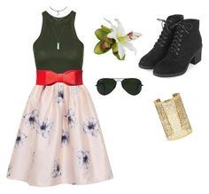 """""""Day out #2"""" by cloudysky321 on Polyvore featuring Topshop, Chi Chi, Forever 21 and Ray-Ban"""
