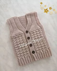 Hand Made Cardigan Models and Making – Knitting And We Baby Cardigan Knitting Pattern Free, Crochet Baby Sweaters, Baby Sweater Patterns, Crochet Baby Clothes, Knit Vest, Baby Knitting Patterns, Classic Outfits, Knit Crochet, Kid Outfits