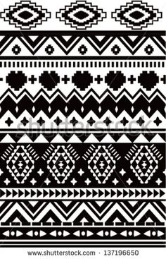 aztec patterns black and white - Google Search