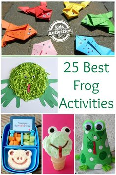 Frogs! Here are a bunch of really fun frog activities for kids.