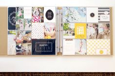 April's layouts are so cute! We love this feature on the blog. There are more pictures on this post, so be sure to follow the link to see all the cute close ups!