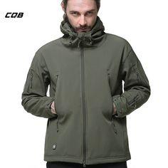 Tactical Military Jacket im Army-Style Bequeme Outdoor-Kapuzenjacke f/ür Herren ACE Taktische Softshell-Jacke Camouflage