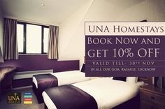 All our homestays are offering 10% discount till 30th #November. #SpecialOffer http://bit.ly/YXaAM8