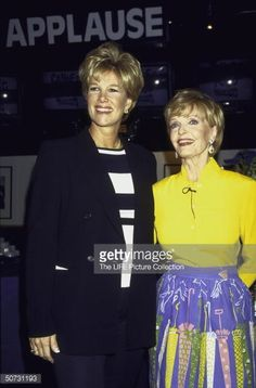 News Photo : TV personalities Joan Lunden & Florence Henderson...