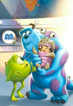 This was a sample page that I did as a tryout for the Toy Story/Monsters inc books. MONSTERS Inc Disney Pixar, Disney Magic, Disney And Dreamworks, Disney Animation, Disney Cartoons, Disney Art, Walt Disney, Cute Disney Wallpaper, Cartoon Wallpaper