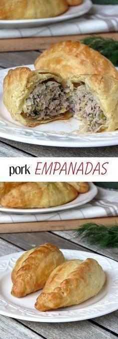 Baked Pork Empanadas (Cornish pasties) | yummyaddiction.com