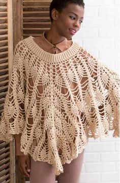 You'll feel like a star with this beautiful Poetry Poncho. This free crochet pattern makes a decadent and elegant poncho that is great for any occasion. The intimate look to this free poncho pattern allows it to work well in more formal gatherings and smaller casual events. The looser stitching between the intricate pineapple designs makes this poncho comfortable for all seasons, too. Though this free crochet poncho pattern is a somewhat complicated project, the detail of the fi...