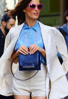 Sheer blue n white