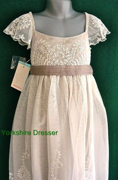 New MONSOON Girls Ivory AYLA Lace Tulle Party Bridesmaid Dress - 8 9 10 11 12 13