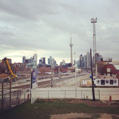 Looking east into downtown Toronto from Liberty Village