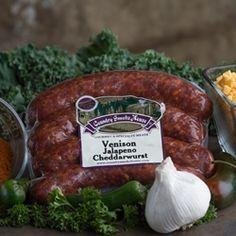 Venison Jalapeno Cheddarwurst .80 - 1.1 lbs. - $8.89