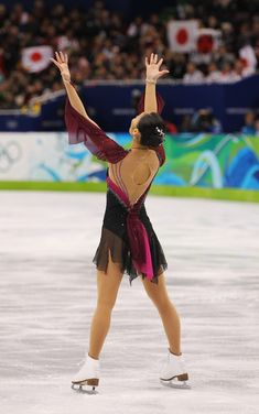 Miki Ando -  Purple/Black Skating / Ice Skating dress inspiration for Sk8 Gr8 Designs.