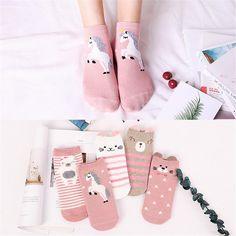 FinancePlan 4 Pairs Babies Soft Socks Newborn Toddler Infant Cotton Polka Dot Striped Socks