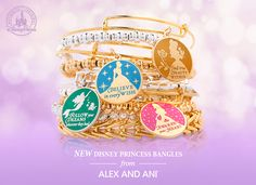 New Alex & Ani Words Are Powerful Princess Collection