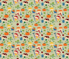 Gardening Kids fabric by bora on Spoonflower - custom fabric