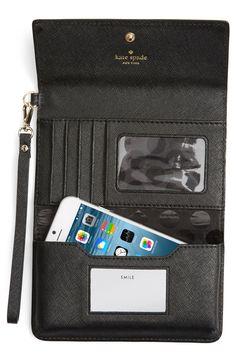 kate spade new york 'cedar street' iPhone 6 leather wristlet
