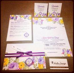 AMEI MIL VEZES essa papelaria de casamento florida e alegre perfeita para um casamento na primavera <3 É da @abelhadesign_debora  Orçamentos  contato@abelhadesign.com  whatsapp: (11) 95450-2962