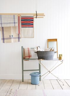 Old French Textile, Decor, Laundry Room, Vintage Mood, Stripes, Linen, Interior Styling