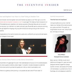 September 22, 2016 The post Incentive Insider Newsletter September 2016 appeared first on Incentive Solutions.