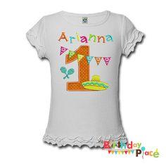 Girls Fiesta Birthday Shirt or Onesie  Any Age by TheBirthdayPlace, $23.00