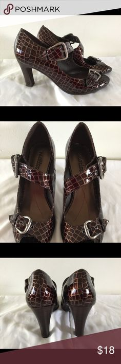 """Brown Straps and Buckles Leather 3"""" Heels Size 6.5 Women's Brown Straps and Buckles Leather Heels Shoes Size 6-1/2 (6.5 M) by Matisse. 3"""" Heels. Matisse Shoes Heels"""