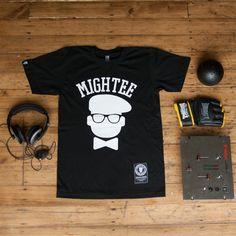 mightee black graphic tee, London #streetwear #london #americanapparel