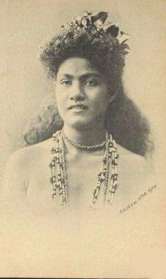 Pretty Samoan woman