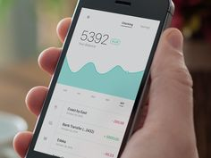 Dribbble - Bank App by Leonardo Zakour