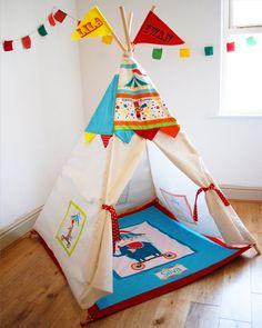Circus play teepee children's bedroom beach by wildthingsdresses, $225.00