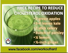 Juice recipe to reduce cholesterol