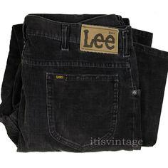 bbc98312 Lee Riders Pants Vintage 70's 80's Corduroy Talon 42 Union USA Boot Cut  36x32 #Lee