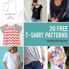 Find the best free t-shirt sewing patterns available. Free t shirt pattern for women, men, girls, boys, kids. Learn how to sew or make a t-shirt.