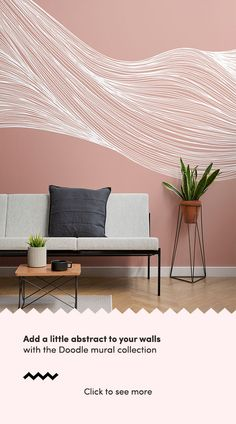 Stay one step ahead with the unique White and Terracotta Wavy Line Abstract Wallpaper Mural, an abstract design that will be sure to turn heads. Living Room Murals, Dining Room Walls, Wall Murals, Living Room Decor, Drawing Wallpaper, Modern Wallpaper, Cool Wallpapers White, Interior Styling, Interior Design