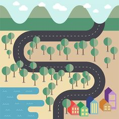 How To Create a Flat Style Vector Map in Adobe Illustrator | Blog.SpoonGraphics by Chris Spooner