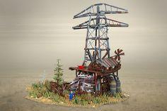 Fallout 4 Abernathy Farm settlement in LEGO