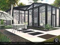 The Sims Resource: Forest Glass House by Pralinesims • Sims 4 Downloads