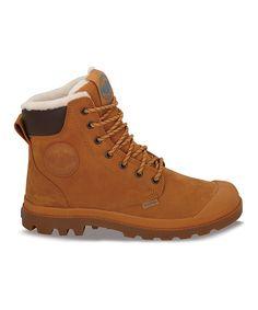 Palladium Amber Gold   Gum Pampa Sport Cuff Leather Boot 0af13e20077