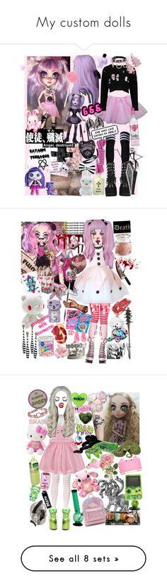 """My custom dolls"" by foxtears ❤ liked on Polyvore featuring Boohoo, Anna Sui, Alexander Wang, Current Mood, Mr Maria, Tarina Tarantino, Dollhouse, Albino, Pink Vanilla and Maá"