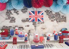 British-themed Dessert Table | http://babyandbreakfast.ph/2015/10/05/a-british-invasion-bash/ | Photo by Little People Photography
