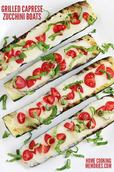 One of the best ways to enjoy summer zucchini: Grilled Caprese Zucchini Boats! For this zucchini boats recipe, you will only need 5 ingredients & they are ready to eat in about 20 minutes. Deliciously simple!!