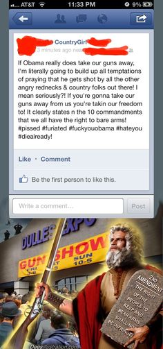Frankly, I don't want stupid redneck twats like this trying to defend civil liberties.