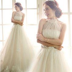 結婚式ドレス ロング 綺麗 花嫁ドレス 花柄 ウエディングドレス 披露宴二次会 エンパイア プリンセスライン Wedding Dress プリンセスドレス