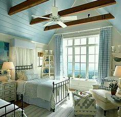 Coastal Cottage Style Home Plans Beach Cottage Bedroom Images Cottage Style Bedrooms, Coastal Bedrooms, Beach Cottage Style, Cottage Living, Cozy Cottage, Beach House Decor, Home Decor, Coastal Cottage, Coastal Decor