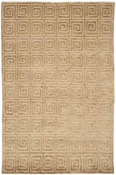 TB108E Rug from Tibetan collection.  The classic Greek Key motif is sophisticated and timeless in this transitional Tibetan rug by Safavieh. Hand-knotted of high mountain wool shown in warm t
