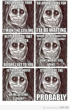 Story of the creeper Scary Meme, Scary Funny, Hilarious, Funny Images, Funny Pictures, Creepy Stories, Super Scary Stories, Need Sleep, Rage Comics
