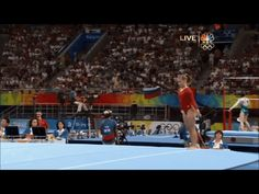Shawn Johnson gif. 2008 Olympics All-Around Floor first pass, double double #gymnastics #silver