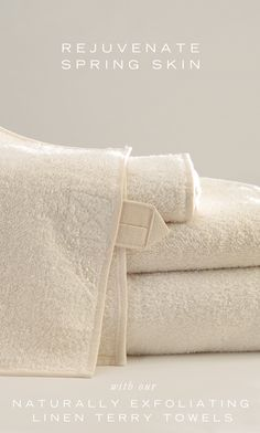 Rejuvenate Spring Skin with these Naturally Exfoliating Towels. 40% OFF ANICHINI Vilnius Linen Terry Towels. Make every day a spa day.