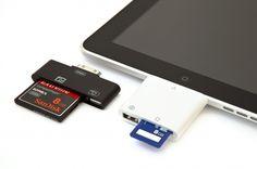 iPad CF and SD Card Readers     Upload DSLR photos onto your iPad at lightning speeds